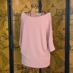 Pink Sweater Blouse